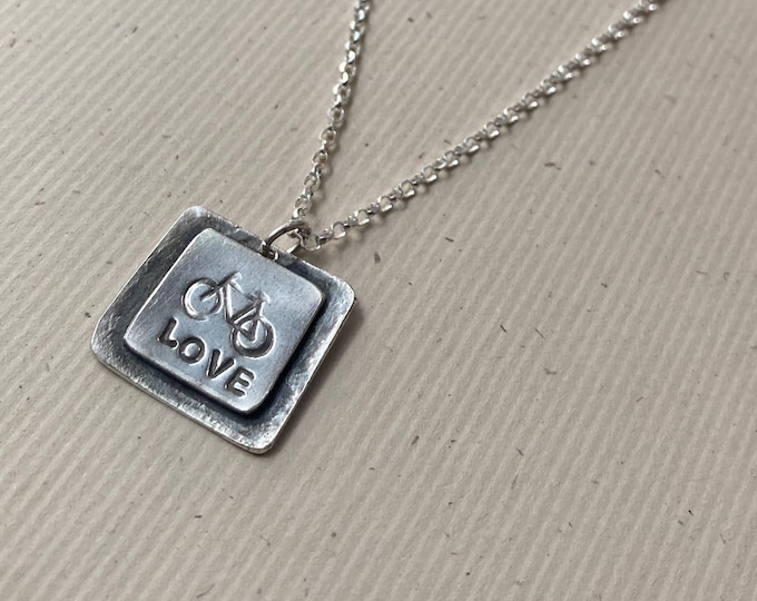Bicycle Love Necklace