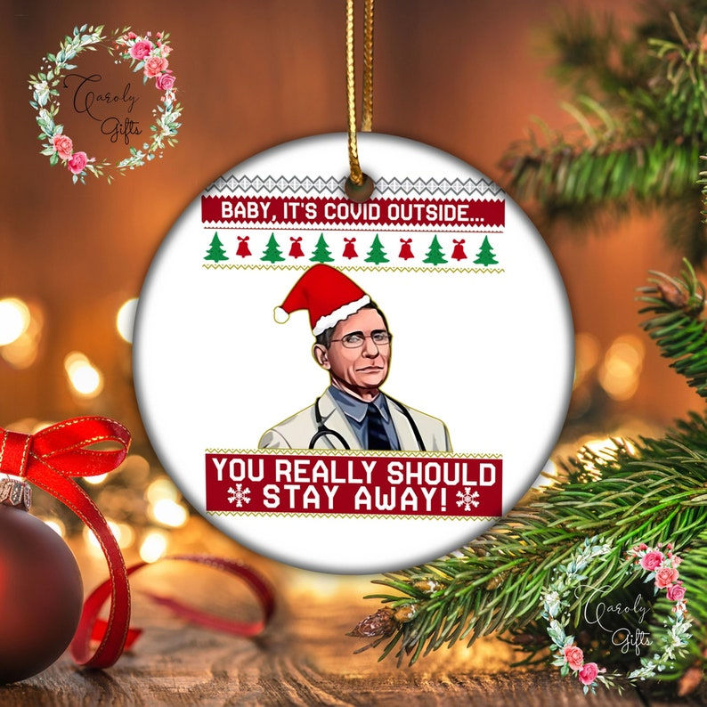 Fauci christmas ornamentsChristmas Fauci 2021 image 1