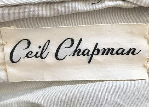 """Chic 1950's """"Ceil Chapman"""" Designer Cocktail Part… - image 5"""