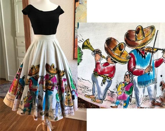 Vivi Mexico! --Adorable 1950's Hand Painted Mexica