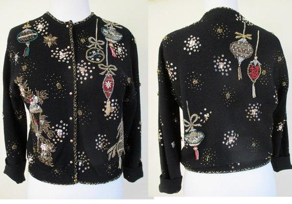 The ultimate 1950's Designer Hand Beaded Sweater b
