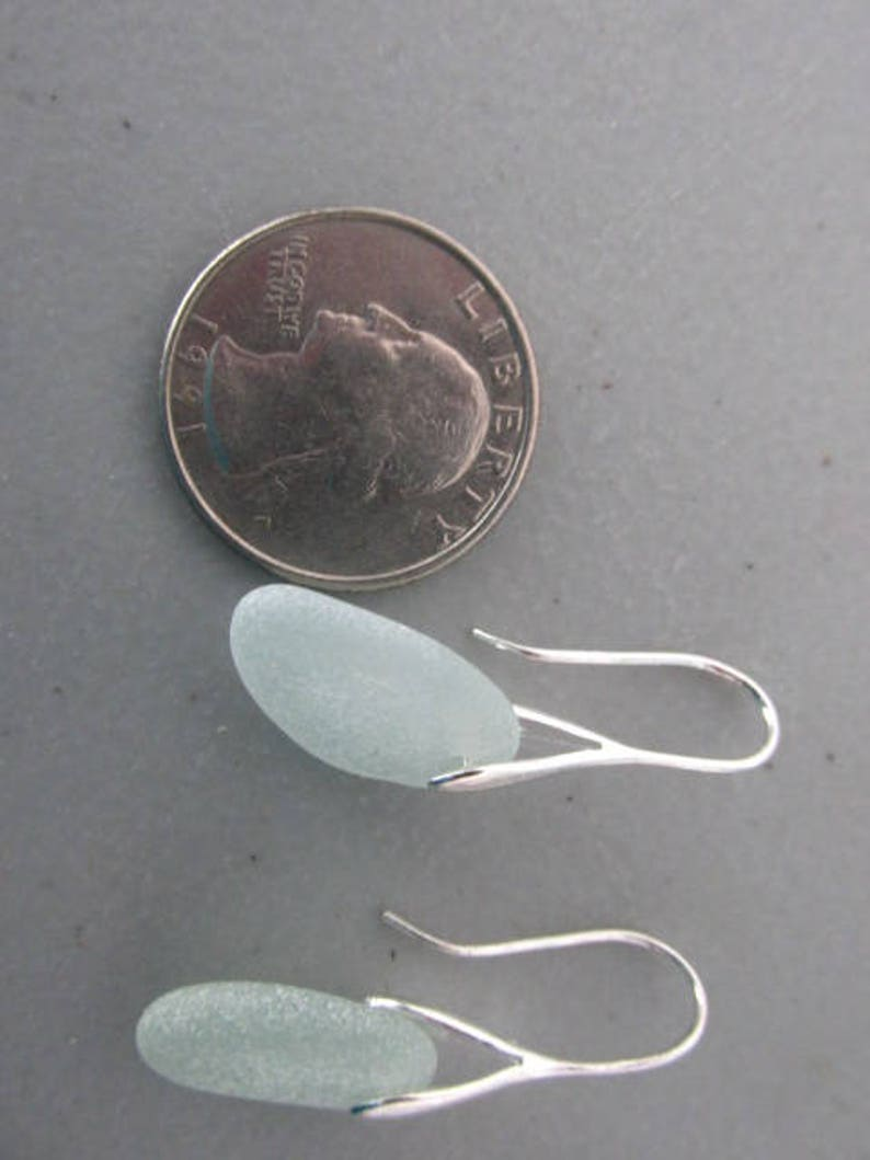 Dangle Seaglass Earrings Drop Beach Glass Earrings Jewelry Gift Beach Sea Glass Jewelry