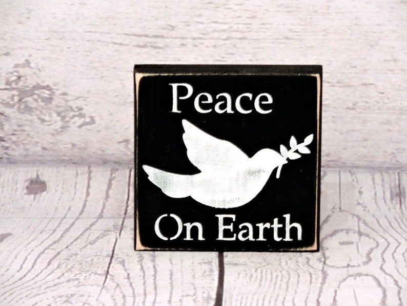 Peace On Earth Primitive Sign Christmas Decor Christmas Etsy