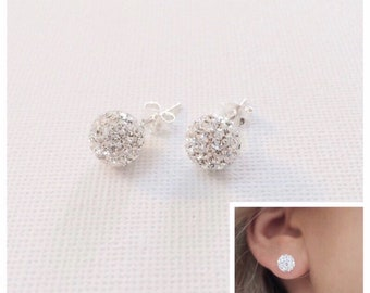 6b372e59c Stud earrings, Sterling silver, stud earrings, silver stud earrings,  earrings, bridesmaid earring, bridal earrings, earrings, tiny earrings,