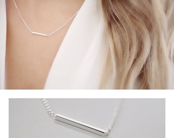 Super skinny Necklace • Silver Necklace • Dainty Bar necklace • Delicate necklace • Choker Necklace • Silver necklace • Line necklace • Bar