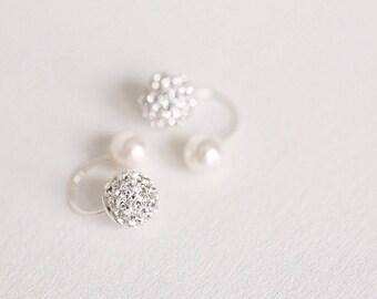 Ear Jacket,Ear Jackets,Sterling silver ear jacket,Bridesmaid earrings,wedding earrings,bridal earrings,ear jacket earring,jacket earrings