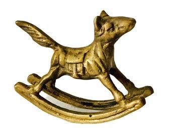 Brass Rocking Horse Figure, Vintage Brass Rocking Horse, Brass Horse Figurine, Rocking Horse Decor, Vintage Rocking Horse, Vintage Brass