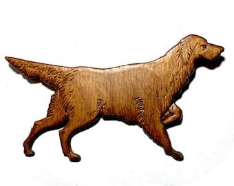 Wood Dog Wall Hanging, Vintage Hunting Dog Decor, Pressed Wood Irish Setter Wall Hanging, Wood Retriever Hunting Dog Wall Decor, Wood Dog