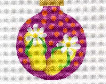 Flip Flops Needlepoint Ornament - Jody Designs   B102