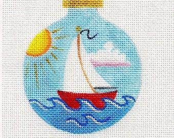 Sailboat Needlepoint Ornament - Jody Designs B35