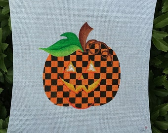 Halloween Orange and Black Checked Pumpkin - Jody Designs #PK-orange