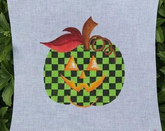 Halloween Green and Black Checked Pumpkin - Jody Designs #PK-green