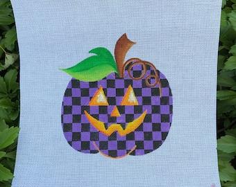 Halloween Purple and Black Checked Pumpkin - Jody Designs #PK-purple