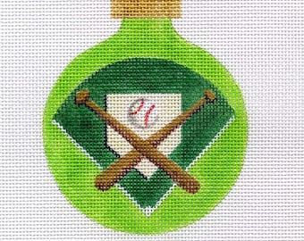 Baseball Bats and Balls Needlepoint Ornament   - Jody Designs  B129