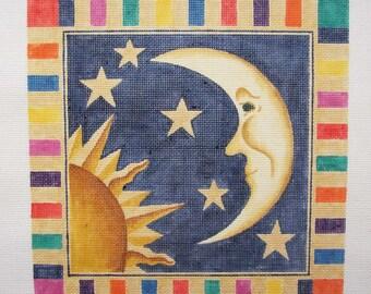 Colorful Sun, Moon and Stars Needlepoint - Jody Designs   J39