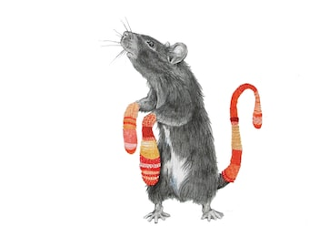 Mouse Traps- archival print from original drawing/watercolor
