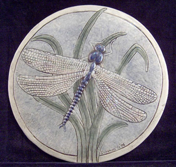 Hand Painted Wall Tiles Simple Ways To Decorate Old: Decorative Relief Carved Ceramic Dragonfly Tile