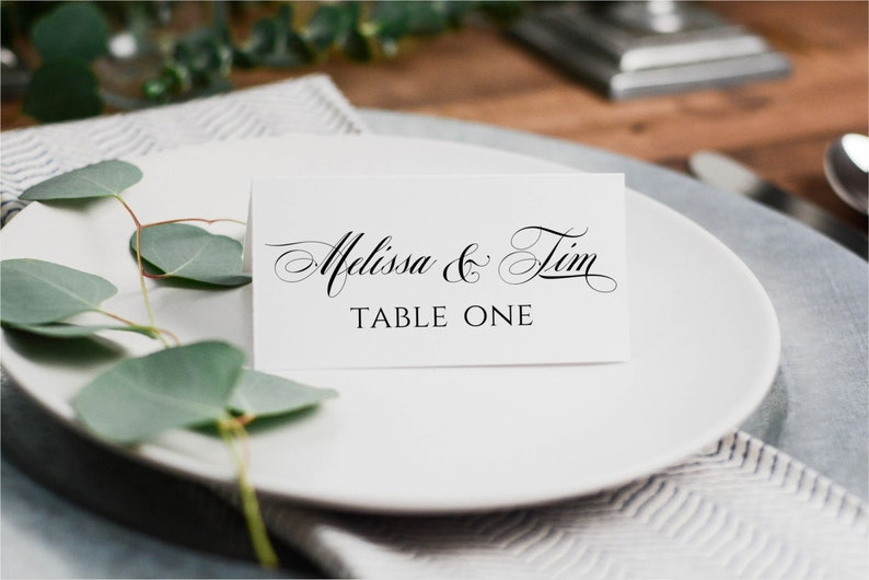 Fold-Over Name Cards,Name Place Cards Name Card Table Place Cards
