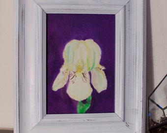 Iris Flower Painting 5x7