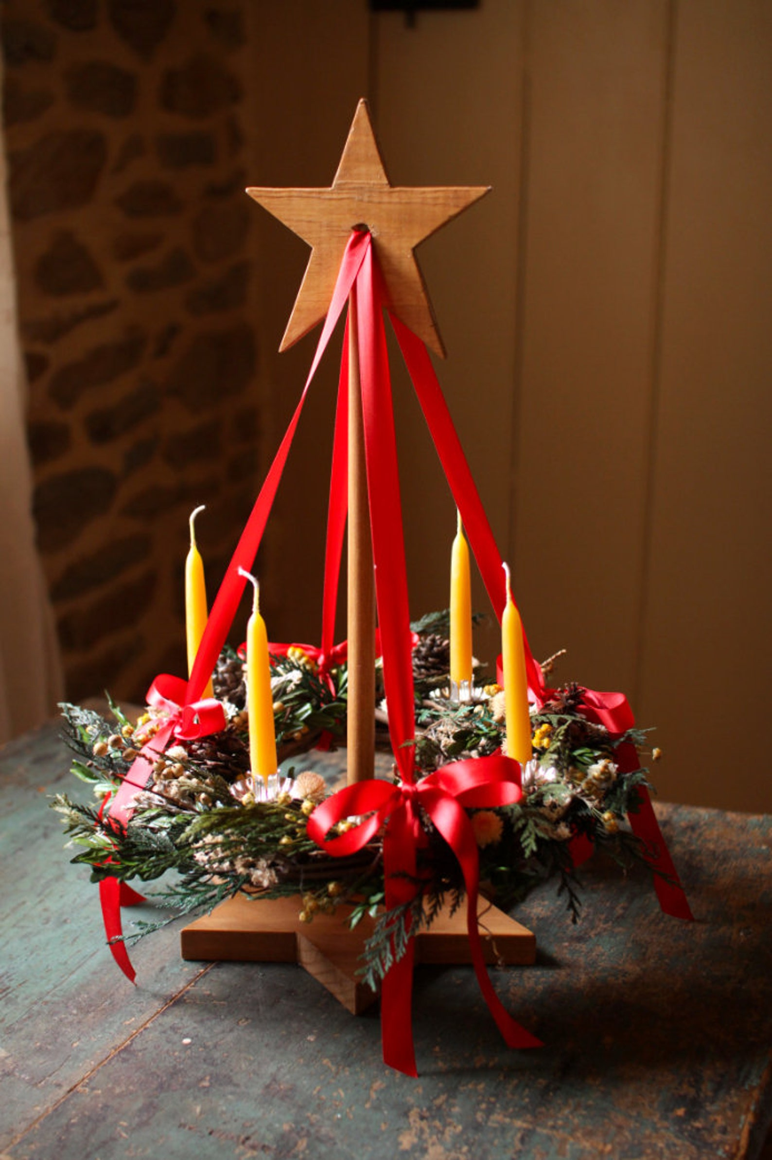 Star in the East Suspended Advent Wreath