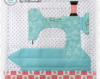 "In The Studio, ""My Featherweight"" Paper piecing pattern"