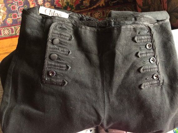 Vintage CHLOE Black Sailor Pants