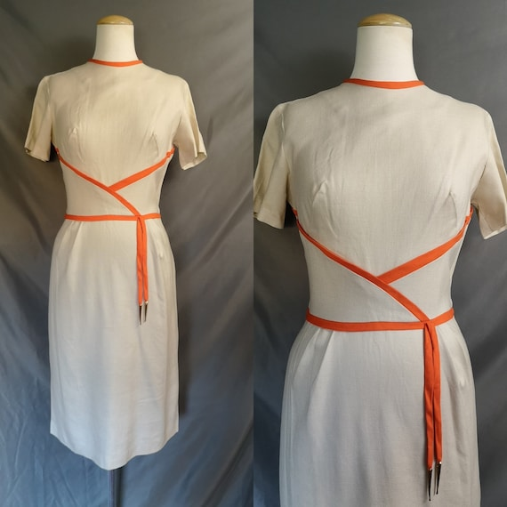 Vintage 1950s Sheath Dress