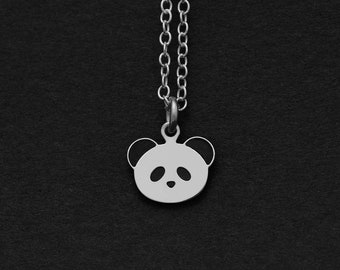 Silver or Gold Panda Necklace