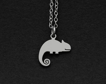Silver or Gold Chameleon Necklace