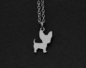 Silver or Gold Chihuahua Necklace