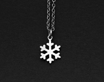 Silver or Gold Snowflake Necklace