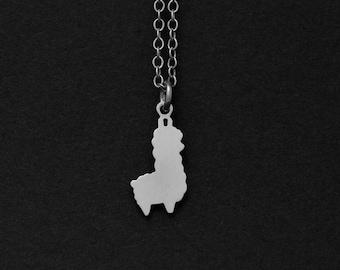 Silver or Gold Llama Necklace