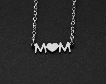 Silver or Gold Love MOM Necklace