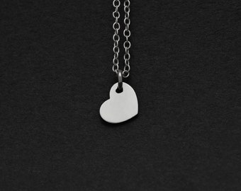 Silver or Gold Little Heart Necklace