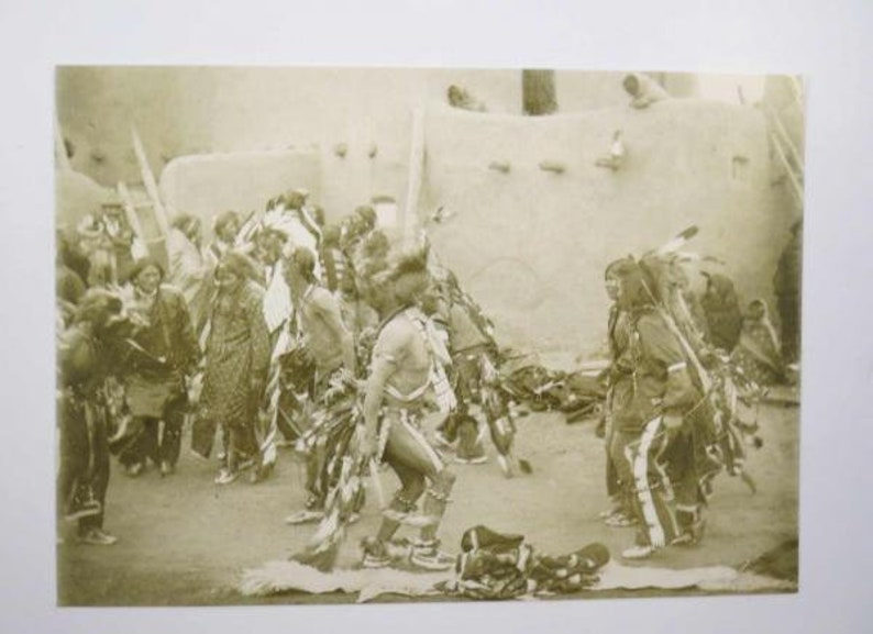 Give Away Dance Taos New Mexico 1987 Postcard RPPC photo by B.G.RANDALL