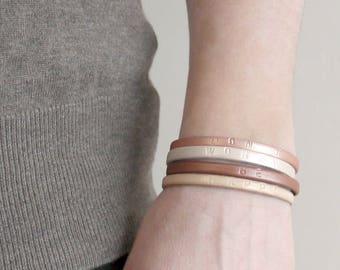 Bracelet en Cuir pour femmes -  Don't worry be happy