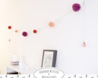 Guirlande de pompons - Luce
