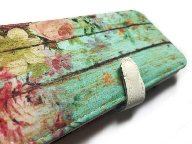 Aqua Shabby Floral Lg phone case LG Stylo 4 Lg V30 Lg G7 ThinQ Lg G6 plus  Lg Stylo 3 Lg V30S ThinQ Lg V35 ThinQ Lg Zone 4 K8 Plus 2018 K20