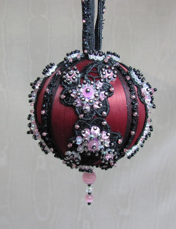 Beaded Christmas Ornament Kit Plum Blossom