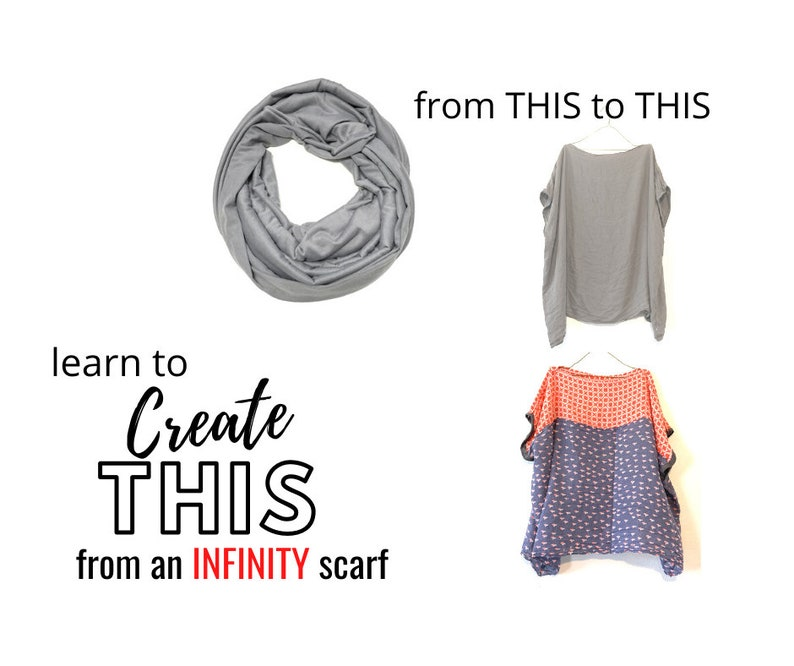 NEW  Poncho from Infinity Scarf Sewing Classes Video Sewing image 0