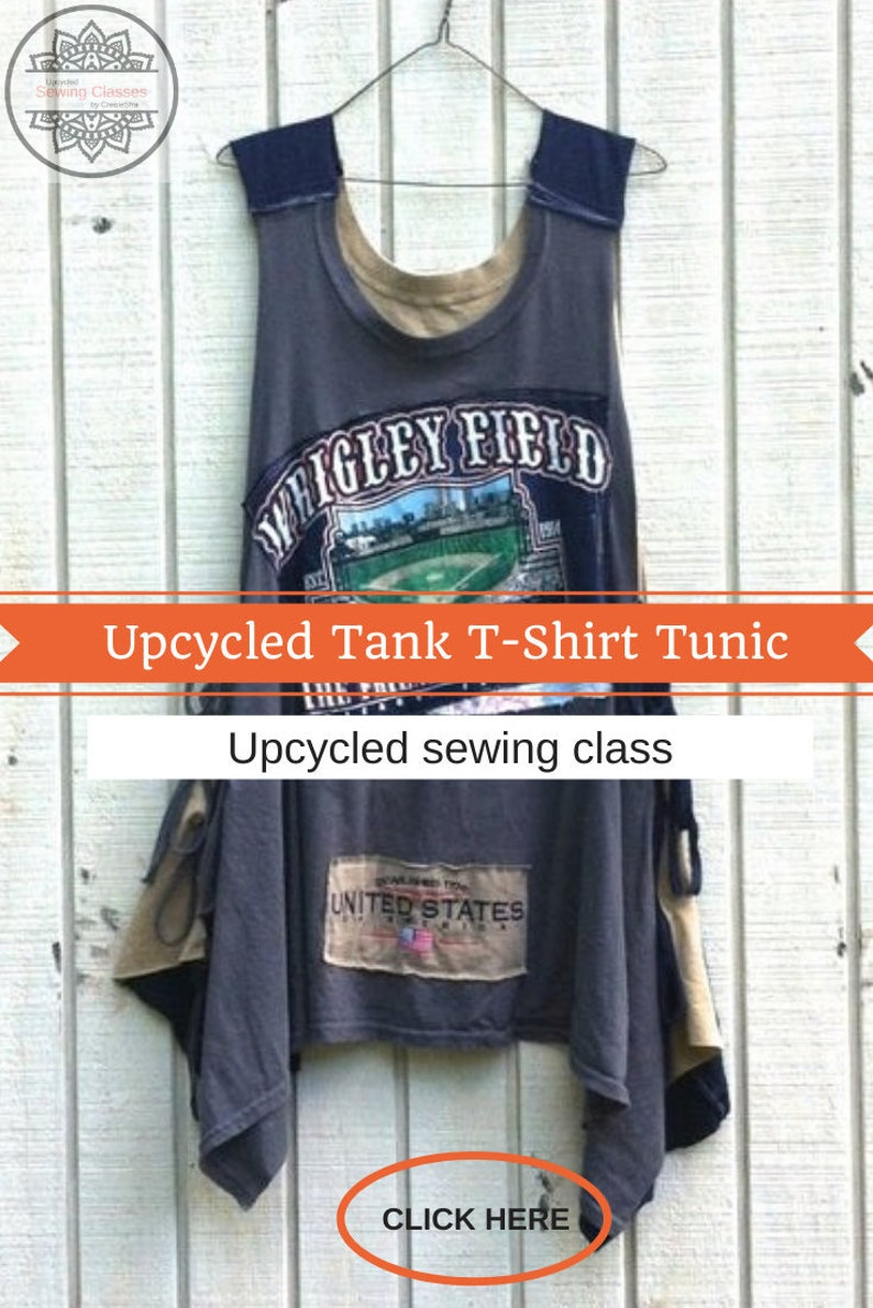 Simple Upcycled Tank T-Shirt Tunic Video Sewing Class image 0