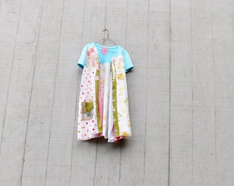 Summer Jacket, Duster, Tshirt Dress, Summer Dress, Upcycled Clothing, Floral, Loose Fit, Summer Dress, Tunic, Upcycled Dress, CreoleSha