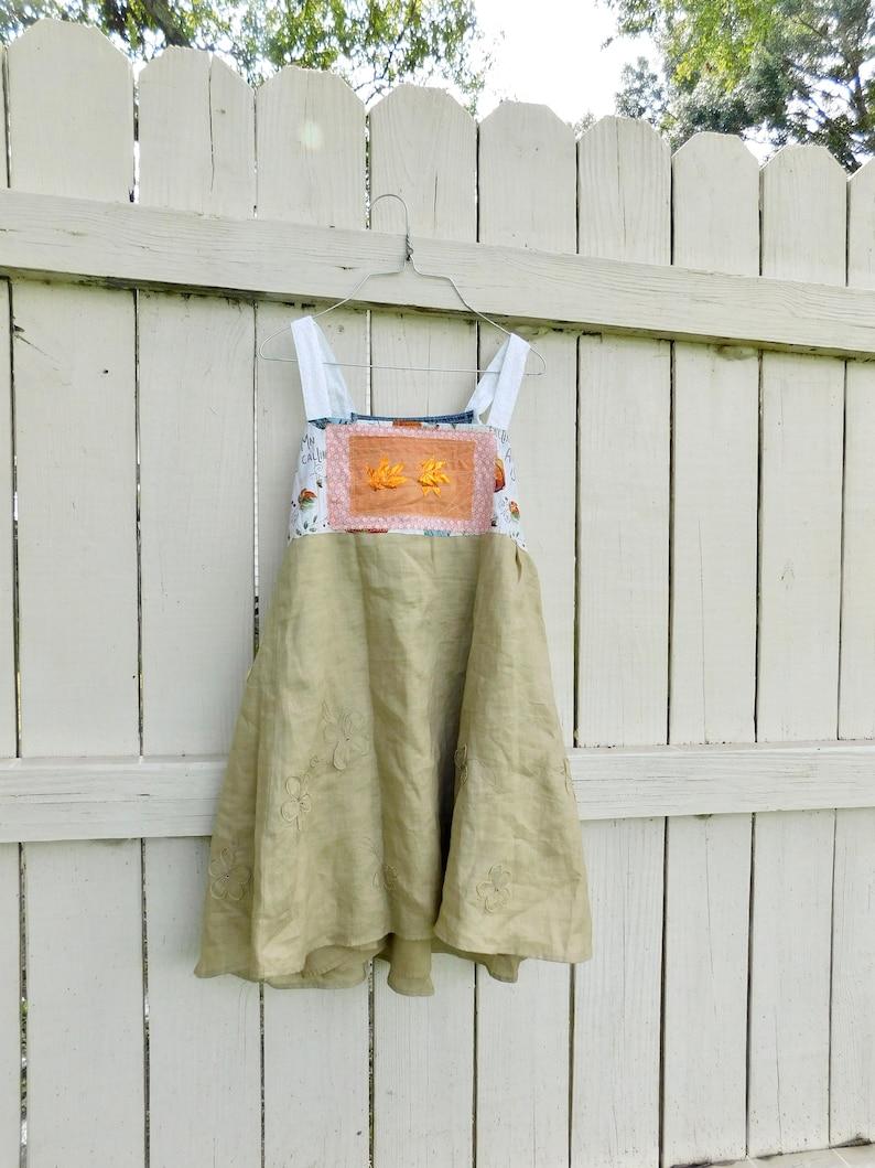 Summer Dress Plaid Jumper Fall Jumper Reclaimed CreoleSha Cotton Dress Light Weight Halloween Tunic Upcycled Dress Boho Tunic