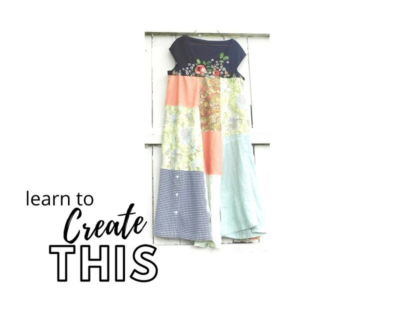 NEW Upcycled Dress Sewing Classes PDF Class Upcycled Sewing image 0