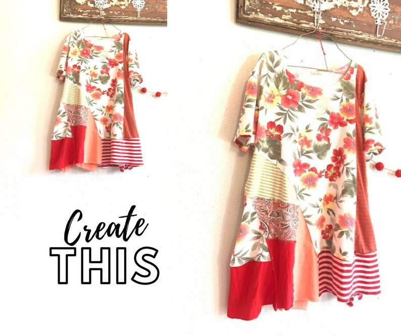 Diagonal Patchwork Sewing Classes Upcycled Sewing Refashion image 0