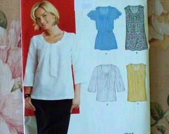 32a7053ea2359c Blouse Pattern Size 8 10 12 14 16 18 Bust 31 1 2 32 1 2 34 36 38 40 New Look  6868 Uncut Pullover Blouse Pattern Pullover Top Pattern