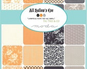 All Hallows Eve Charm Pack, Fig Tree Co, Moda 20350PP, 5 quot Inch Precut Fabric Squares, Halloween Charm Pack Fabric, Pretty Halloween Floral