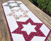Hollow Star Quilted Table Runner Pattern, Cut Loose Press CLPKMS005, Star Table Runner, Creative Grids 60 Degree Diamond Ruler CGR60DIA