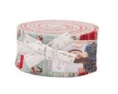 "Return to Winter's Lane Jelly Roll - Christmas Jelly Roll Fabric - 2.5"" Inch Precut Fabric Strips - Moda 13170JR - Xmas Fabric - Kate Birdie"