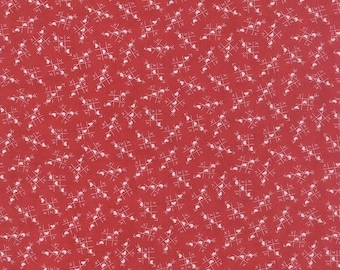 Moda Sweetwater First Crush Tic Tac Toe Fabric in Apple Red 5600-12